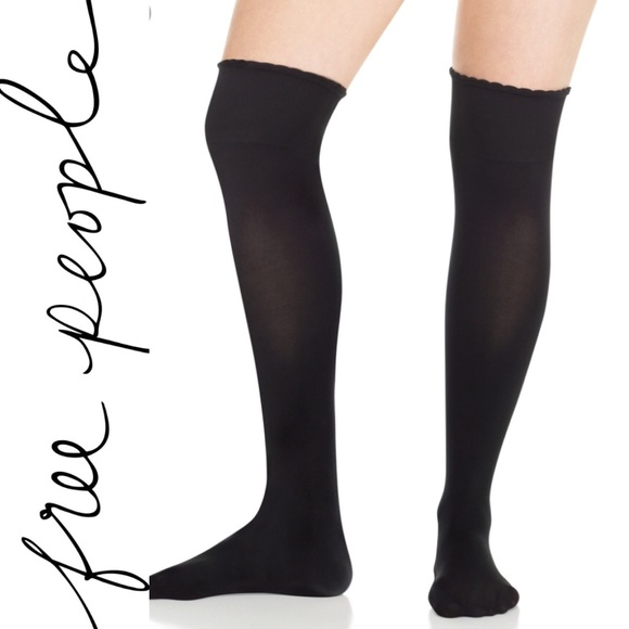 b5e9276f9 Free People Scalloped Over The Knee Socks